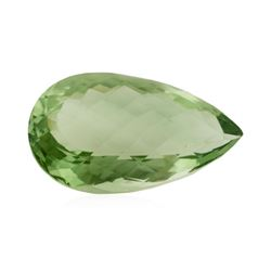 36.32 ct. Natural Pear Cut Green Amethyst