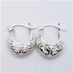 Silver Small Hoop (3.4G) Earrings, Suggested Retail Value $100