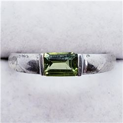 Silver Peridot Ring (~weight 3g), Suggested Retail Value $120