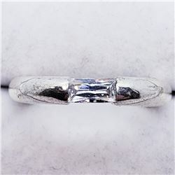 Silver Cubic Zirconia Ring (~weight 5g), Suggested Retail Value $120