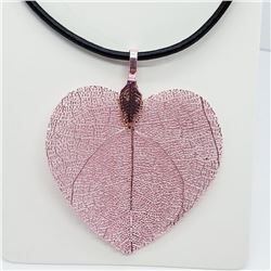 Natural Leaf Pendant Fashion Jewelry Necklace, Suggested Retail Value $100