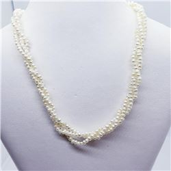 Silver Fresh Water Pearl (2.5 - 3Mm) 16 - 19 Inches Necklace, Suggested Retail Value $200 (Estimated