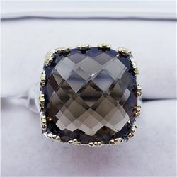 Brass Smokey Topaz(11.9ct) Ring (~weight 9.7g), Suggested Retail Value $200 (Estimated Selling Price