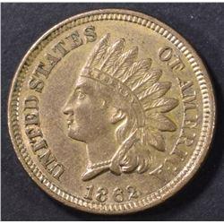 1862 INDIAN CENT AU/BU