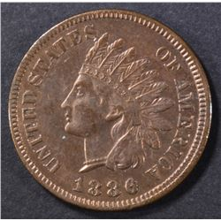 1886 TYPE 1 INDIAN CENT BU RB