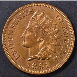 1891 INDIAN CENT GEM BU RB