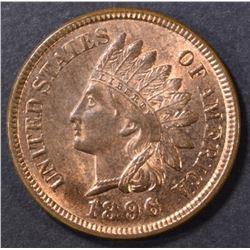 1896 INDIAN CENT GEM BU RB