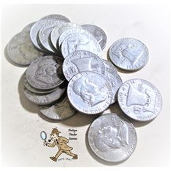 20 pcs. Random Date Franklin Half Dollars