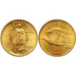 Random Date AU Grade $20 Gold Saint Gaudens