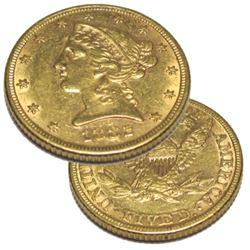 1882  $5 Gold Liberty Half Eagle