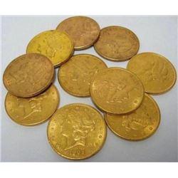 (1) Random Date $20 Gold Liberty XF AU Grade
