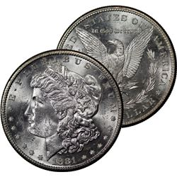 1881 S BU Grade Morgan Silver Dollar
