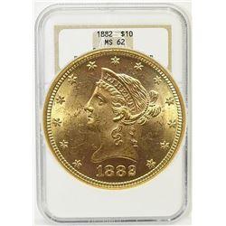 1882 $ 10 Gold Liberty MS 62 NGC