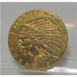 1912 $2.5 Gold Indian XF AU Grade