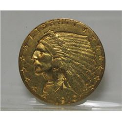 1910  $2.5 Gold Indian XF Grade