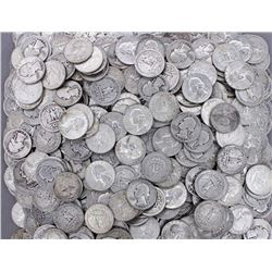 100 pcs. Washington Quarters - 90% Silver