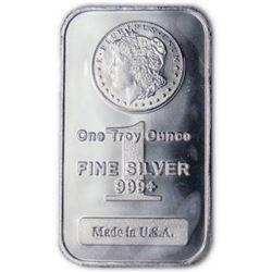 1 oz. Silver Bar Morgan Design