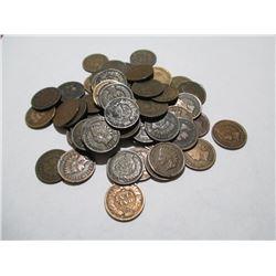 50 pcs. Random Dates - Indian Head Cents