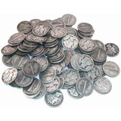 (50) Mercury Dimes -90% Silver
