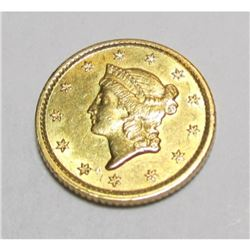 1853 TYPE I Liberty $ 1 Gold Coin