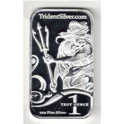 1 oz. Silver Neptune Silver Bar