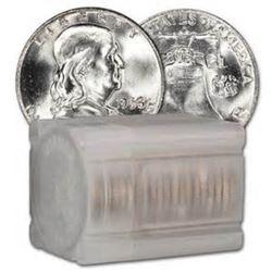 (20) BU Random Date 90% Silver Franklin Halves