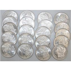 Roll of 1880's CH BU Morgan Dollars