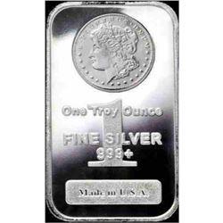 1 oz Morgan Design Bar Pure Silver