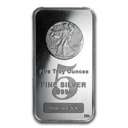 5 oz Walking Liberty Silver Bar