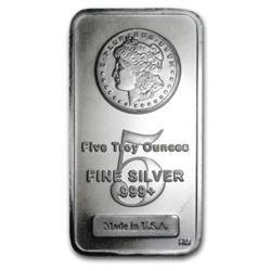 5 oz. Silver Morgan Design Bar