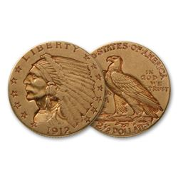 Random Date $ 2.5 Gold Indian Coin