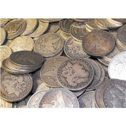 Lot of (50) Morgan Silver Dollars - Group
