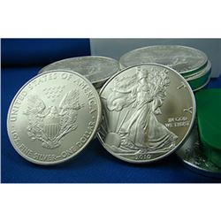 (20) Silver Eagles- 1 oz. US Bullion