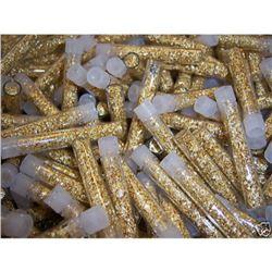 (100) Gold Leaf Flakes Vials-NON Bullion