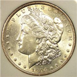 1904 O UNC Morgan Silver Dollar