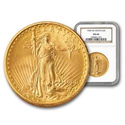 1908 NM MS 64 $20 Gold Saint Gaudens NGC