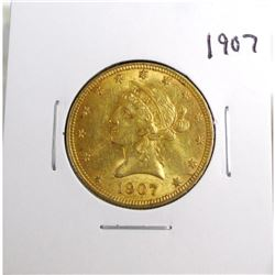 1907 $5 Gold Liberty Eagle