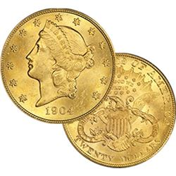 1904 P BU  $20 Gold Liberty Double Eagle