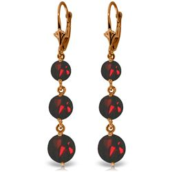Genuine 7.2 ctw Garnet Earrings Jewelry 14KT Rose Gold - REF-42H6X