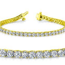 Natural 4.04ct VS-SI Diamond Tennis Bracelet 18K Yellow Gold - REF-348X5F