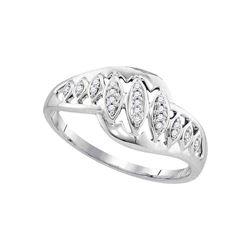 0.06 CTW Diamond Openwork Ring 10KT White Gold - REF-13F4N