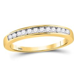0.25 CTW Diamond Single Row Wedding Ring 14KT Yellow Gold - REF-30M2H