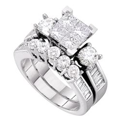 2 CTW Princess Diamond Bridal Engagement Ring 14KT White Gold - REF-269K9W