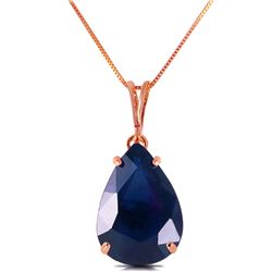 Genuine 4.65 ctw Sapphire Necklace Jewelry 14KT Rose Gold - REF-44P7H