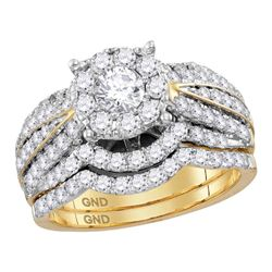 1.78 CTW Diamond Bridal Wedding Engagement Ring 14KT Yellow Gold - REF-247Y5X