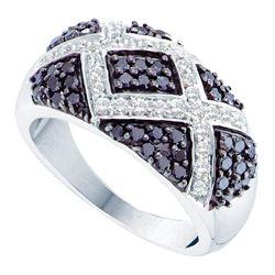 1 CTW Black Color Diamond Fashion Ring 14KT White Gold - REF-76Y4X