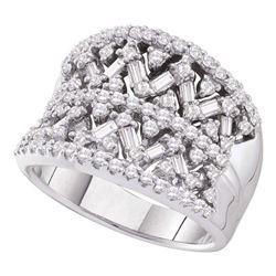 1.25 CTW Diamond Fashion Ring 14KT White Gold - REF-134H9M