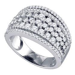 1.21 CTW Diamond Symmetrical Fashion Ring 10KT White Gold - REF-97N4F