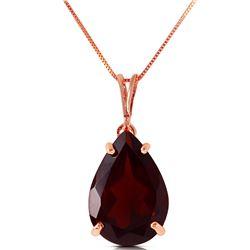 Genuine 5 ctw Garnet Necklace Jewelry 14KT Rose Gold - REF-33Z2N