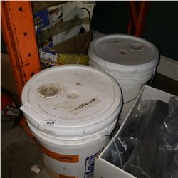 2 PAILS OF WATER-BASED ACRYLIC BONDING